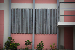 October 7, 2016 - Florida, U.S. - Hurricane protection on a building in Lake Worth Friday, October 7, 2016. (Credit Image: © Bruce R. Bennett/The Palm Beach Post via ZUMA Wire)