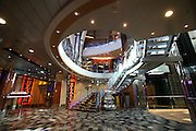 The launch of Royal Caribbean International's Oasis of the Seas, the worlds largest cruise ship..Lobby of the Entertainment Place.