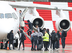 Phil Jones as the Manchester United team fly to Wales on Tuesday morning for their Carabao Cup match against Swansea City