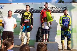 Winners of MX Open during Slovenian Championship in Motocross, on June 2nd, 2019 in Orehova Vas, Slovenia. Photo by Blaž Weindorfer / Sportida