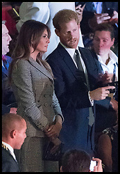 September 24, 2017 - Toronto, Canada - Image licensed to i-Images Picture Agency. 23/09/2017. Toronto, Canada. Melania Trump and Prince Harry at the opening ceremony of  the Invictus Games in Toronto, Canada. Picture by POOL  / i-Images UK OUT FOR 28 DAYS (Credit Image: © Pool/i-Images via ZUMA Press)