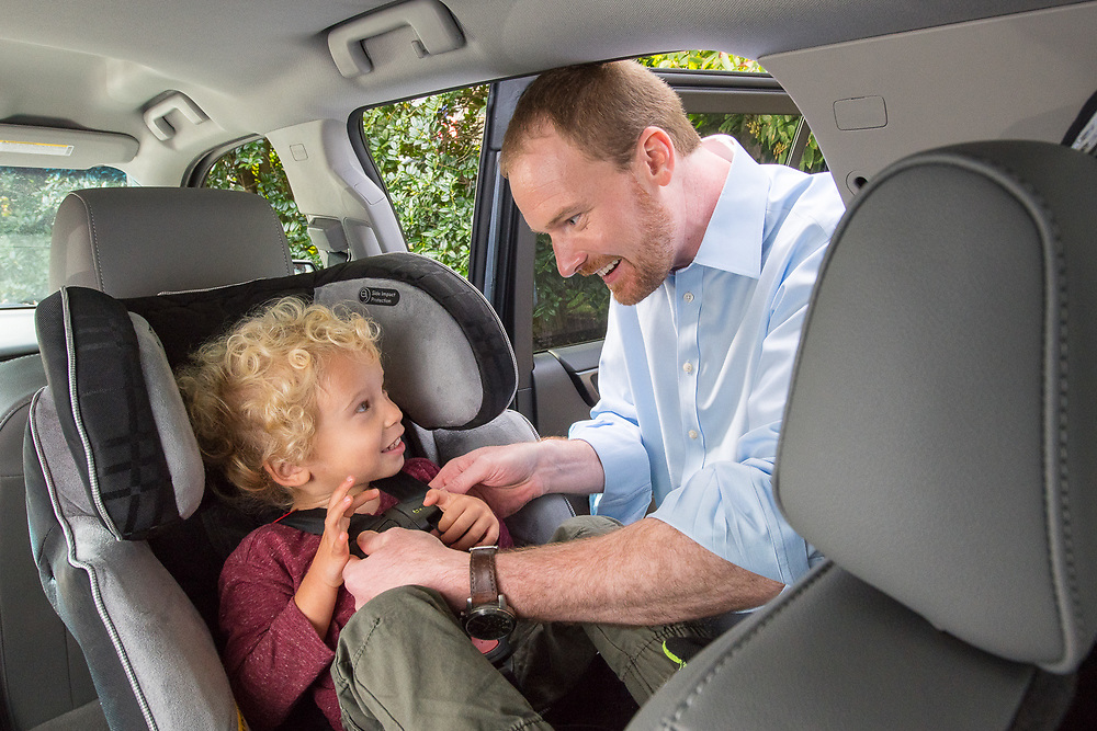 Commercial photography shoot in Arlington, VA done for NHTSA (National Highway Transportation Safety Administration). Both proper and inproper use of child safety equipment installation and use were demonstrated during this 6 day project.