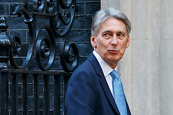 © Licensed to London News Pictures. 11/10/2016. London, UK. Chancellor PHILIP HAMMOND attends a cabinet meeting in Downing Street on Tuesday, 11 October 2016. Photo credit: Tolga Akmen/LNP
