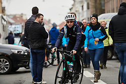 Sophie Wright (GBR) makes her way to the start line at the 2020 Omloop Het Nieuwsblad - Elite Women, a 122.9 km road race from Gent to Ninove, Belgium on February 29, 2020. Photo by Sean Robinson/velofocus.com