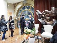 Rockville Centre, New York, USA. February 3, 2010. Opening Reception for artist LORI HOROWITZ solo art exhibit at Demouzy Contemporary art gallery.