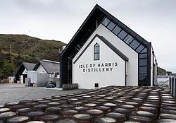Exterior of Isle of Harris Distillery in Tarbert Isle of Harris, Outer Hebrides, Scotland, Uk