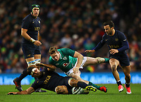 Rugby Union - 2017 Guinness Series (Autumn Internationals) - Ireland vs. Argentina<br /> <br /> Ireland's Chris Farrell and Argentina's Pablo Matera, at the Aviva Stadium.<br /> <br /> COLORSPORT/KEN SUTTON