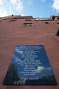 Vienna, Karl-Marx-Hof. Memorial plaque for habitants deported and killed by the Nazi Regime at 12. Februar-Platz.