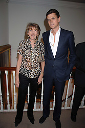 LADY JANE SPENCER-CHURCHILL and her son the HON.ALEXANDER SPENCER-CHURCHILL at the Sotheby's Summer Party 2007 at their showrooms in New Bond Street, London on 4th June 2007.<br />