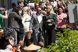 EXCLUSIVE: Priestley, Spelling and Garth back together filming Beverly Hills 90210 Reunion. The cast of Beverly Hills 90210 were spotted filming in Vancouver, Canada. The scene involved the famous High School group arriving at a court house with police holding back crowds. Jason Priestly, Tori Spelling and Jennie Garth were spotted greeting fans during filming who were holding up pictures of them from the hit TV show. The new season is a mockumentary style show were the actors appear to play former versions of themselves from the hit TV show. 19 Jun 2019 Pictured: Jason Priestley, Tori Spelling, Jennie Garth. Photo credit: MEGA TheMegaAgency.com +1 888 505 6342