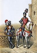 Captain Archers,  Chevalier du Guet, 15th century. From 1254-1791  Guet Royal was responsible for order in Paris. From 1791 role transferred to the National Guard .   'Histoire des corps de troupes de la ville de Paris',  1887. France