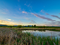 Sunrise at one of the ponds at Cherry River in Bozeman, Montana