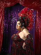 Portrait of burlesque Ruby<br /> Photography by Zac Macaulay<br /> Tel 0044 07947 884 517<br /> www.linkphotographers.com