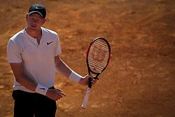 May 4, 2018 - Lisbon, Portugal - Kyle Edmund reacts during the Millennium Estoril Open tennis tournament in Estoril, outskirts of Lisbon, Portugal on May 4, 2018  (Credit Image: © Carlos Costa/NurPhoto via ZUMA Press)