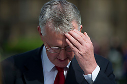 © London News Pictures. FILE PIC 14/09/2015. London, UK. Shadow Foreign Secretary HILARY BENN  in Westminster during a television interview. Reports have suggested that Hilary Benn might be moved from his position as  shadow foreign secretary in this weeks expected shadow cabinet reshuffle.Photo credit: Ben Cawthra/LNP