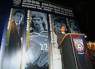 28 August 2006: Television commentator J.P. Dellacamera emceed the induction ceremony. The National Soccer Hall of Fame Induction Ceremony was held at the National Soccer Hall of Fame in Oneonta, New York.