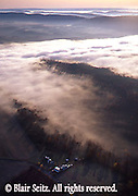 PA Landscapes, Southcentral Pennsylvania, Aerial Photographs, Fall Season, Morning Fog, Farm and Forest, Perry County, PA