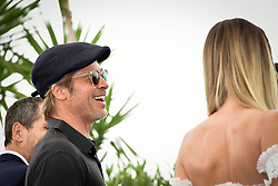 """""""Once Upon A Time In Hollywood"""" Photocall - The 72nd Annual Cannes Film Festival. 22 May 2019 Pictured: Brad Pitt,Margot Robbie. Photo credit: Daniele Cifalà / MEGA TheMegaAgency.com +1 888 505 6342"""