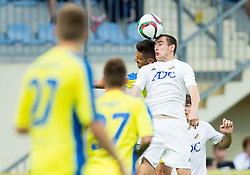 Juninho of Domzale vs Branislav Jankovic of Cukaricki during 1st Leg football match between NK Domzale (SLO) na FC Cukaricki (SRB) in 1st Round of Europe League 2015/2016 Qualifications, on July 2, 2015 in Sports park Domzale,  Slovenia. Photo by Vid Ponikvar / Sportida