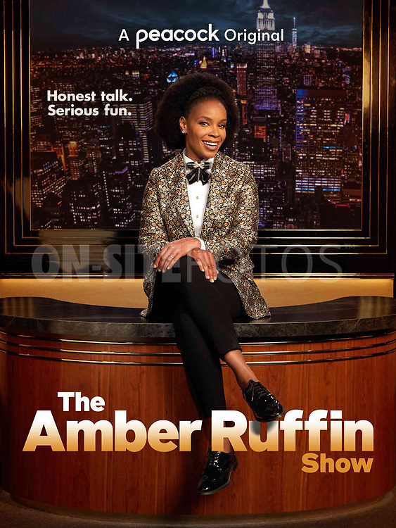 """THE AMBER RUFFIN SHOW -- Pictured: """"The Amber Ruffin Show"""" Key Art -- (Photo by: Peacock)"""