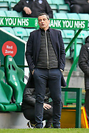 Hibernian FC manager, Jack Ross watches his team go 2-0 down during the SPFL Premiership match between Hibernian FC and Motherwell FC at Easter Road, Edinburgh, Scotland on 27 February 2021.