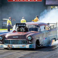 Great to see Jon Ferguson and Matilda on track here at the #PerthMotorplex - I've somehow managed to miss every previous attempt by Jon to take this car down the track, so I'm extra happy to have gotten this shot today.. #Chevrolet #55Chev #TriFive #DragRacing #PerthisOK #WesternAustralia