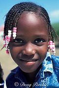 little girl, Salt Cay, <br /> Turks & Caicos Islands, <br /> Western Atlantic Ocean