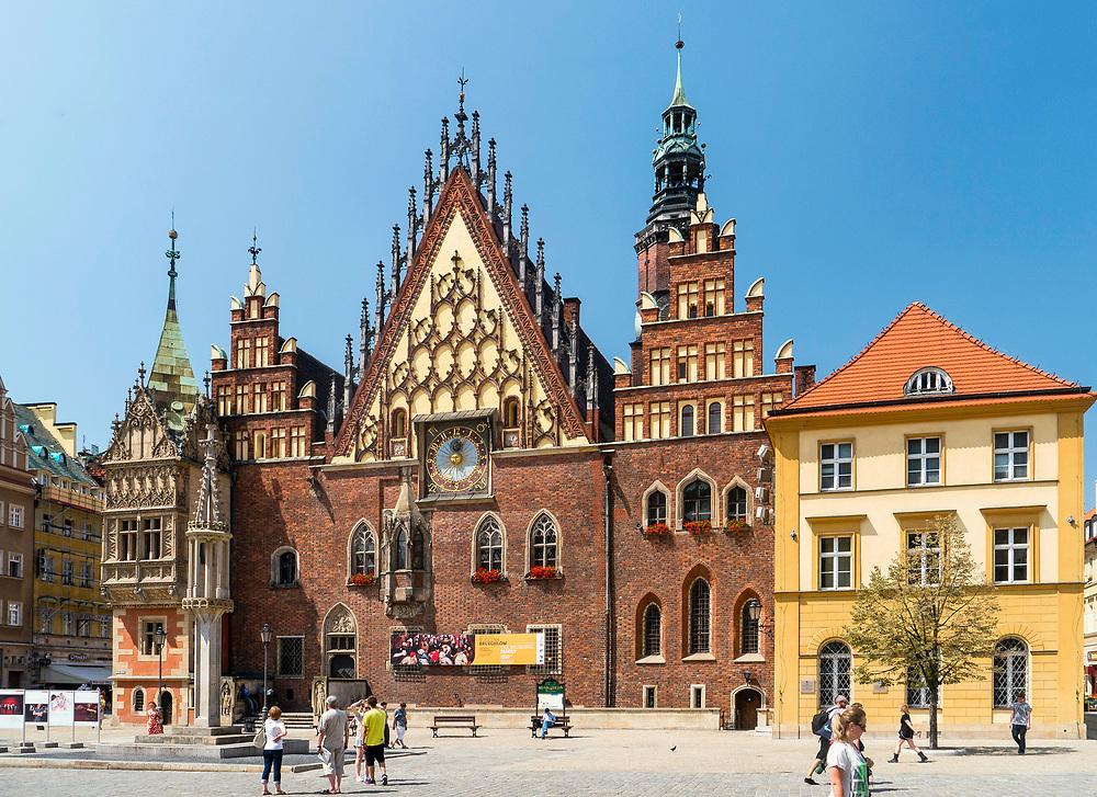 Gotycki ratusz miejski, Wrocław, Polska<br /> Gothic town hall in Wrocław, Poland