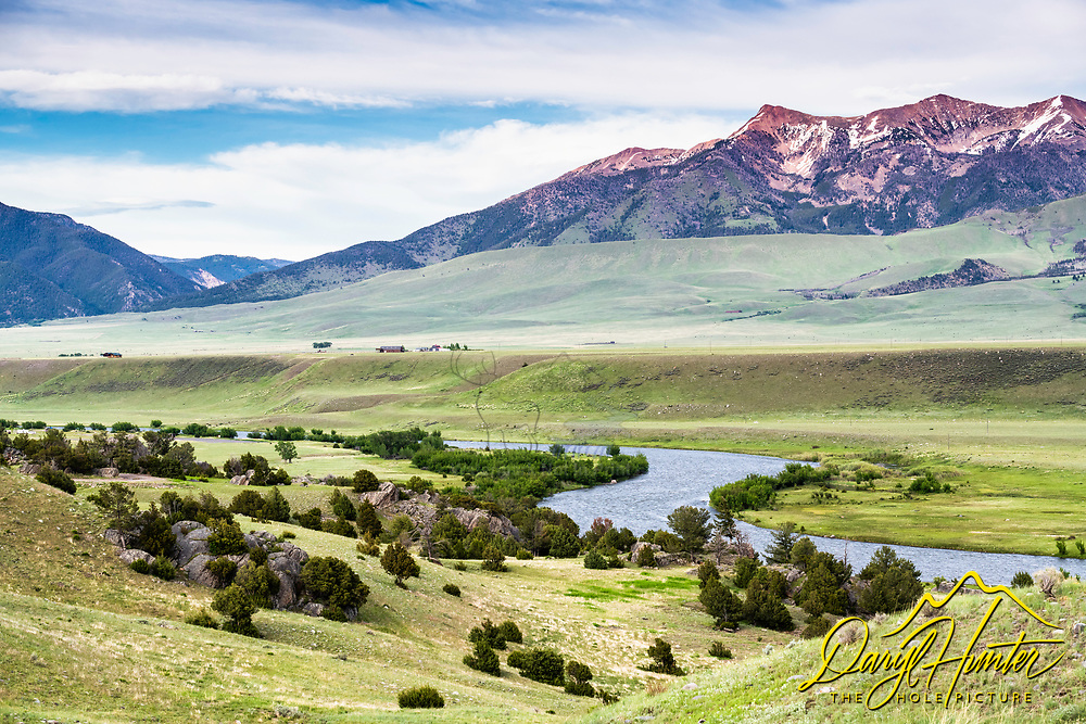 The Winding Madison River near Camron Montana.  The Madison River is one of the best fly-fishing rivers in the country and certainly one of the most iconic.