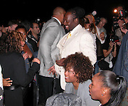Tina Knowles with Wyclef Jean & Venus Williams<br />
