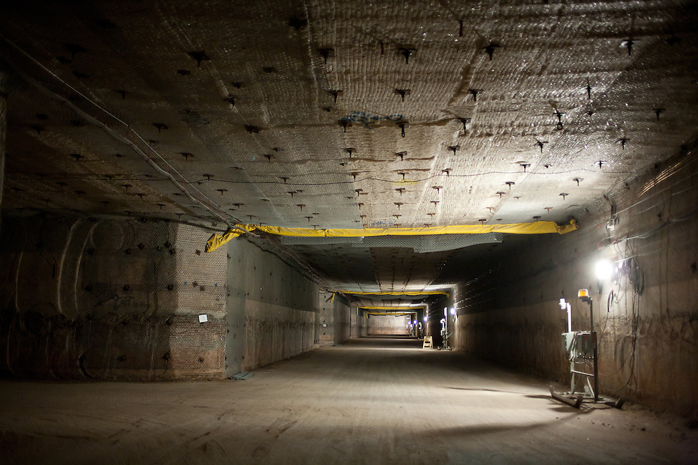 2150 ft underground inside The Waste Isolation Pilot Plant in Eddy County. WIPP received $172 million as part of the Recovery and Reinvestment Act accelerate nuclear waste cleanup.