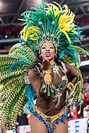 Brazilian samba dancer  during the International Friendly match between England and Brazil at Wembley Stadium, London, England on 14 November 2017. Photo by Sebastian Frej.