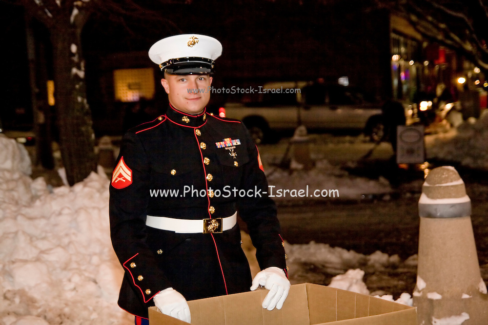 """Wisconsin USA, """"Celebration of lights"""" Christmas celebration in Milwaukee, WI. Collecting toys for poor children, December 2006"""