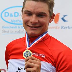Sportfoto archief 2012<br /> Nederlands Kampioenschap Kerkrade beloften. Kampioen Moreno Hofland, 23 Sjoerd Kouwenhoven en 3e Daan Olivier