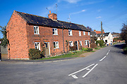 Row of red brick terraced cottages, Snape, Suffolk