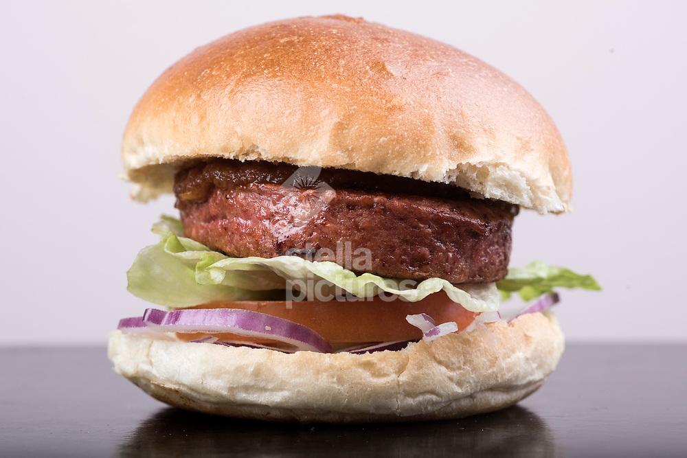 The B12 vegan burger at Mildreds restaurant in Dalston. <br /> Picture by Daniel Hambury/@stellapicsltd 07813022858<br /> 19/02/2018