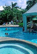 Hotel swimming pool, Grand Cayman, Cayman Islands, British West Indies,
