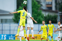 Darko Zec of Domzale vs Andrija Pavlovic of Cukaricki during 1st Leg football match between NK Domzale (SLO) na FC Cukaricki (SRB) in 1st Round of Europe League 2015/2016 Qualifications, on July 2, 2015 in Sports park Domzale,  Slovenia. Photo by Vid Ponikvar / Sportida