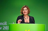 DEU, Deutschland, Germany, Berlin, 24.11.2018: Paraskevi (Vula) Tsetsi, Secretary General of the Greens/EFA group in the European Parliament. Council of the European Green Party (EGP council) at Deutsche Telekom Representative Office.