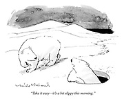 """""""Take it easy—it's a bit slippy this morning."""""""