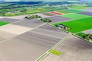 ederland, Flevoland, Noordoostpolder (NOP), 07-05-2015; Voorsterweg omgeving Marknesse, lokatie mogelijke proefboring schaliegas. Voorsterbos in de achtergrond.<br /> Zie ook zoekterm [Swart schaliegas 2013].<br /> Location possible test drilling shale gas, near Marknesse.<br /> luchtfoto (toeslag op standard tarieven);<br /> aerial photo (additional fee required);<br /> copyright foto/photo Siebe Swart