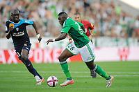 FOOTBALL - FRENCH CHAMPIONSHIP 2011/2012 - L1 - AS SAINT ETIENNE v AS NANCY LORRAINE - 13/08/2011 - PHOTO JEAN MARIE HERVIO / DPPI - BAKARY SAKO (ASSE)