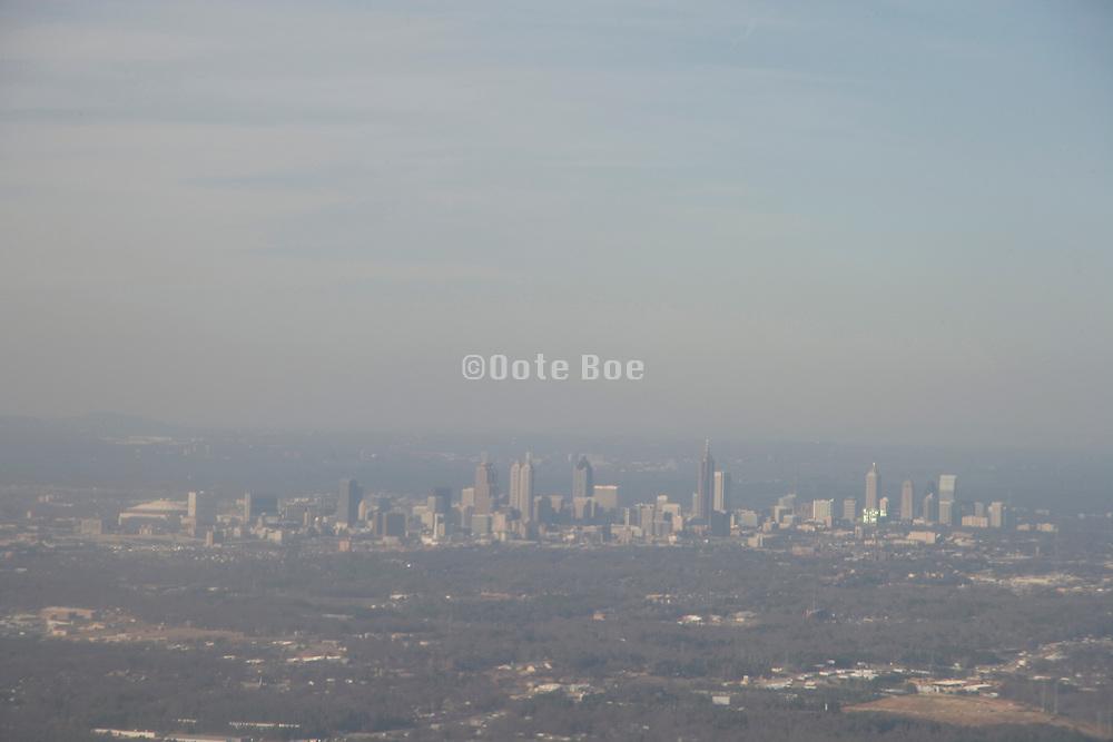 view of Atlanta Georgia seen from an airplane