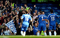 Photo: Ed Godden/Sportsbeat Images.<br /> Chelsea v Tottenham Hotspur. The FA Cup. 11/03/2007.<br /> Chelsea players celebrate with Frank Lampard after he scores to make it 1-1.