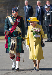 Queen Elizabeth ll attends the Ceremony of the Keys at  Holyroodhouse on July 2, 2018, where she is symbolically offered the keys to the city of Edinburgh by the Lord Provost .