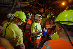 Miners waiting to go back to the surface in Boulby potash mine