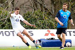 Henry Slade of England - Mandatory by-line: Robbie Stephenson/JMP - 08/03/2019 - RUGBY - England - Training session ahead of Guinness Six Nations match against Italy