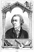 Leonhard Euler(1707-1783). Swiss mathematician.Engraving published Paris 1874