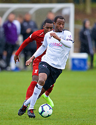 DERBY, ENGLAND - Friday, March 8, 2019: Derby County's Efe Ambrose during the FA Premier League 2 Division 1 match between Derby County FC Under-23's and Liverpool FC Under-23's at the Derby County FC Training Centre. (Pic by David Rawcliffe/Propaganda)