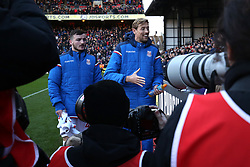 25 November 2017 - Premier League Football - Crystal Palace v Stoke City - Thomas Edwards of Stoke and Peter Crouch of Stoke make their way past photographers - Photo: Charlotte Wilson / Offside
